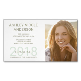 Graduation Name Cards Student Photo Magnet Magnetic Business Cards