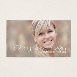 Graduation Name Photo Cards Modern Text Overlay
