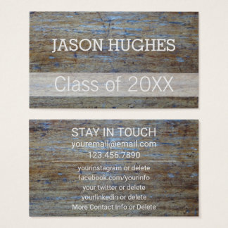 Graduation Networking | Rustic Wood Grain Insert