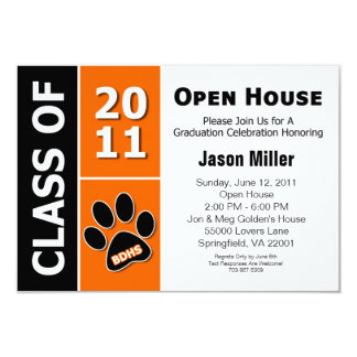 Graduation Open House 3.5x5 Paper Invitation Card