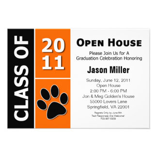 Graduation Open House Custom Announcements