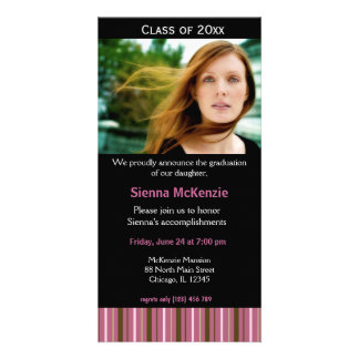 Graduation Open House Personalized Photo Card