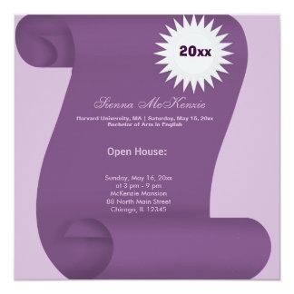 Graduation Open House (Purple) 13 Cm X 13 Cm Square Invitation Card