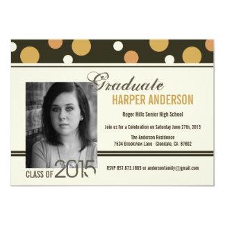 Graduation Open House Retro Confetti Dots Invite