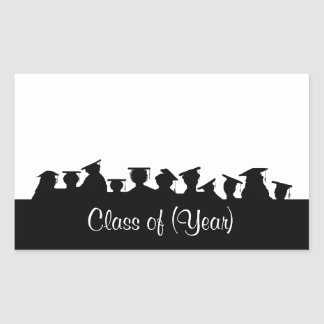 Graduation or Reunion Name Tags with Silhouettes
