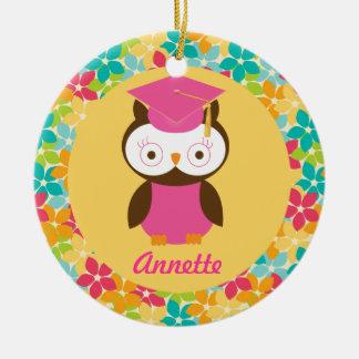 Graduation Owl personalized keepsake gift Christmas Ornaments