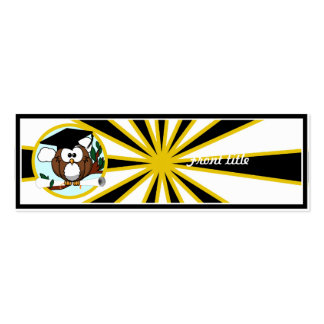 Graduation Owl w/ School Colors Black and Gold Business Card