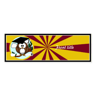 Graduation Owl With Red And Gold School Colors Skinny Business Cards
