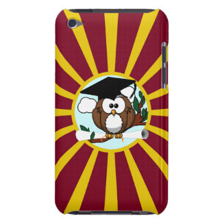 Graduation Owl With Red And Gold School Colors Case-Mate iPod Touch Case