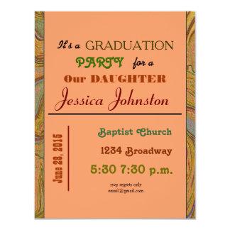 graduation party 11 cm x 14 cm invitation card