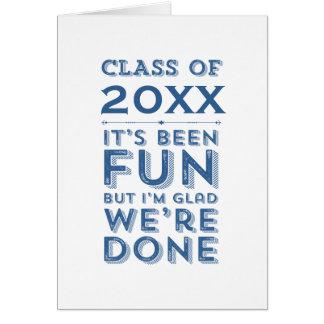 Graduation Party Fun Class of Your Year Custom Card