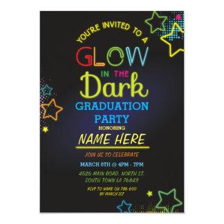 Graduation Party Glow In The Dark Neon Invite
