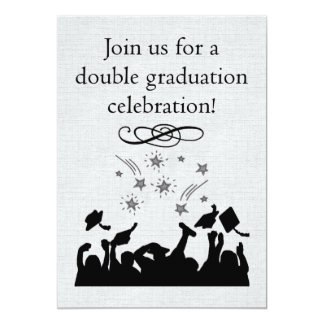 Graduation party Invitation for twins