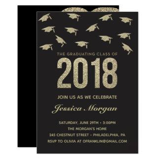 Graduation Party Invitation Gold Graduation Invite