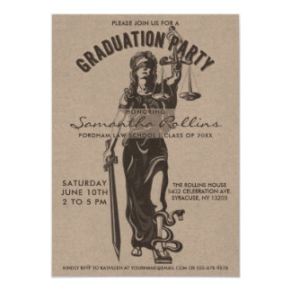 Graduation Party Invitations | Lady Justice
