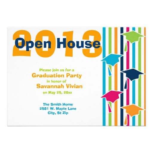 Graduation Party Open House Invitations