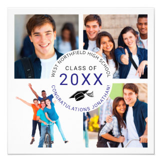 Graduation Party Photo Collage Invitation
