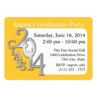 Graduation Party Photo Insert Card Business Card