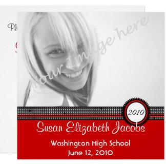 Graduation Party - Red & Black Invite