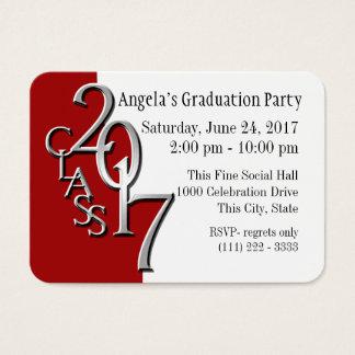 48 graduation party business cards and graduation party business card templates. Black Bedroom Furniture Sets. Home Design Ideas