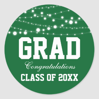 Graduation Party Stickers Green