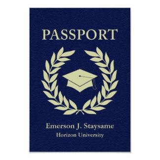 graduation passport 9 cm x 13 cm invitation card