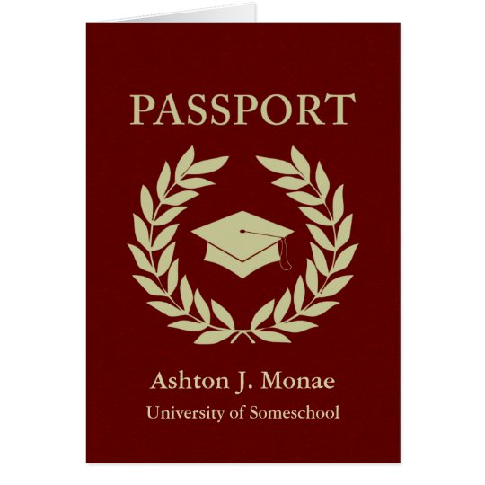 graduation passport card