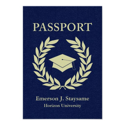 graduation passport custom announcements