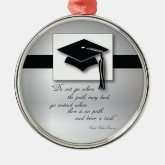 Graduation Path, Round Gift Items Silver-Colored Round Decoration