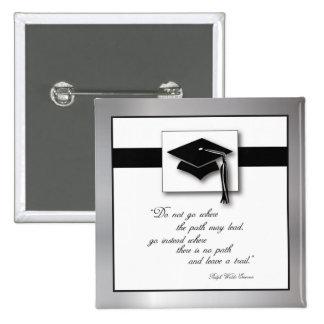 Graduation Path, Square Gift Items 15 Cm Square Badge