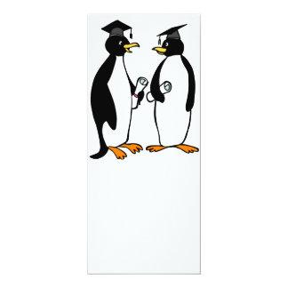 Graduation Penguins Cartoon Card