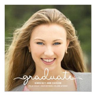 Graduation Photo Announcement Handwritten Script