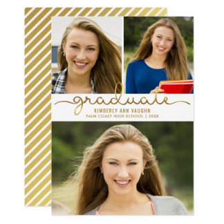 Graduation Photo Collage Easy DIY Template Card