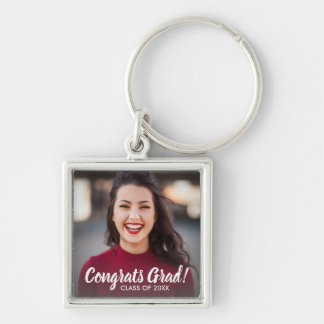 Graduation Photo Congrats Grad Class 2018 Custom Key Ring