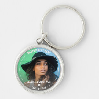 Graduation Photo Grad Cap Class of 2018 Custom Key Ring