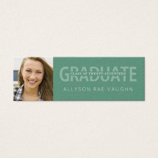 Graduation Photo Name Cards Modern Typography