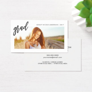 Graduation Photo Name Cards Student Networking