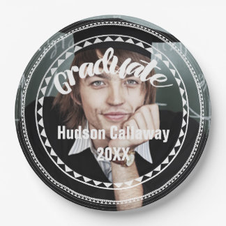 Graduation Photo Name of Graduate Year 9 Inch Paper Plate