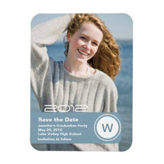 Graduation Photo Save the Date Rectangular Photo Magnet