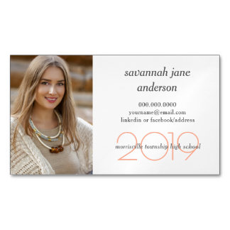 Graduation Photo Student Name Cards Magnets