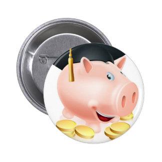 Graduation Piggy bank Button