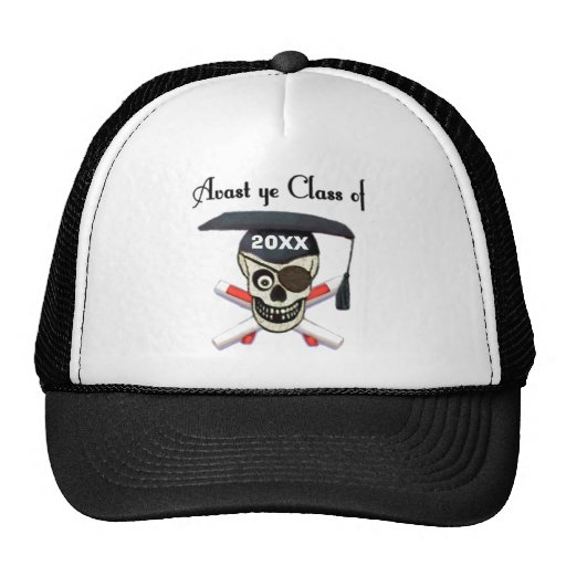 Graduation Pirate Custom Year Hat