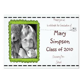 Graduation Pre-School Invitation Cards