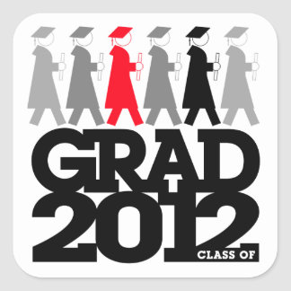 Graduation Processional Class of 2012 Sticker Red