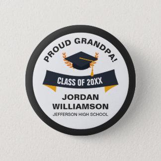 Graduation Proud Grandpa of Graduate Class of 2018 6 Cm Round Badge