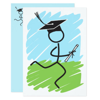 Graduation Runner © Party Cross Country Track 13 Cm X 18 Cm Invitation Card