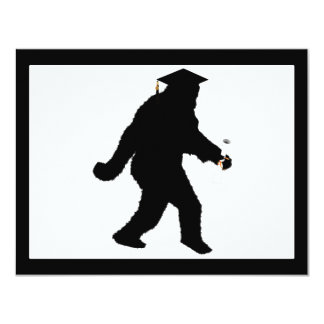 Graduation Sasquatch with Grad Cap 11 Cm X 14 Cm Invitation Card