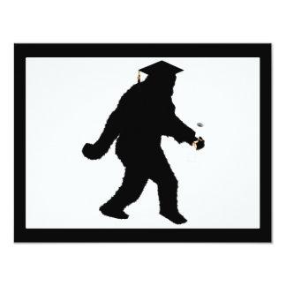 Graduation Sasquatch with Grad Cap Custom Invitation