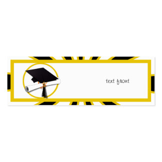 Graduation School Colors Black And Gold (ZOOM!) Business Card Templates