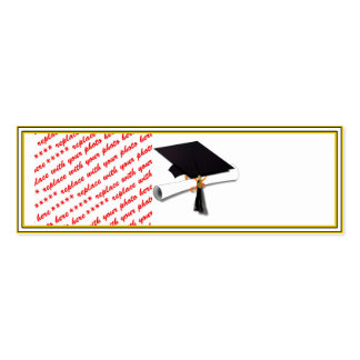 Graduation School Colors Black & Gold Frame Pack Of Skinny Business Cards